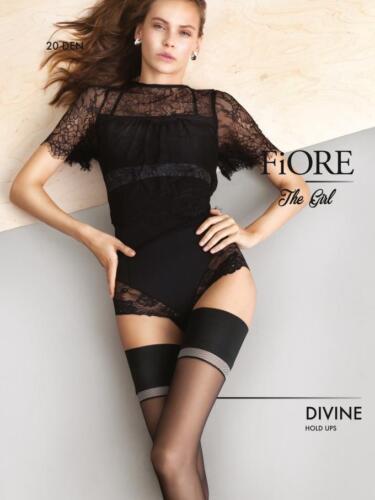 Fiore Divine 20 Denier Elegant Sheer Hold Ups With A Minimalistic Narrow Stripe