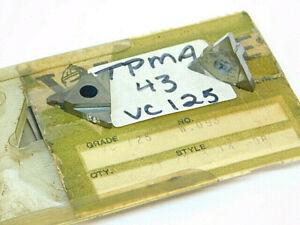NEW-SURPLUS-5PCS-VALENITE-TPMA-43-W-093-GRADE-VC125-CARBIDE-INSERTS