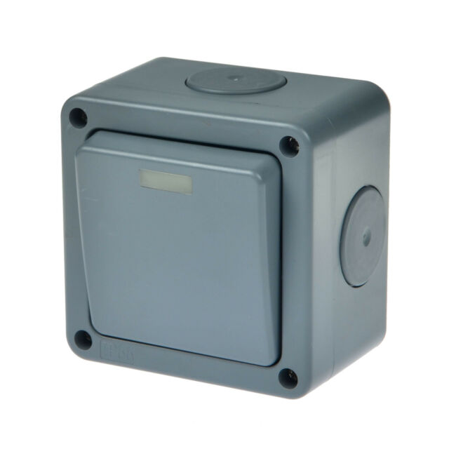 Weatherproof Outdoor 10a 1 Gang 2 Way Switched Ip66