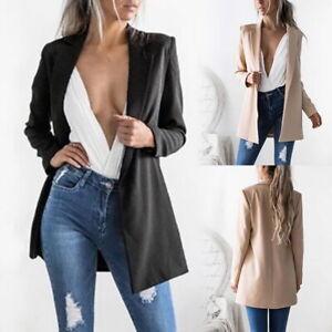 Womens-Ladies-Casual-Blazer-Ladies-Open-Front-Lapel-Slim-Suit-Jacket-Coat-Tops