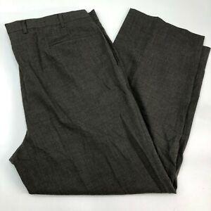 Alexander Julian Colours Pantalones De Vestir Para Hombre 46x40l Marron Gris 100 Lana De Negocios Ebay