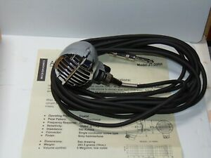 Astatic-chrome-JT-30-RH-microphone-with-cable-amp-Original-box-instructions