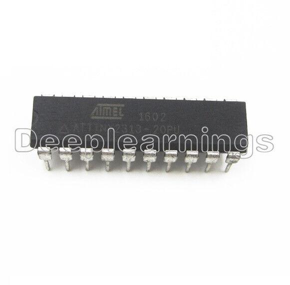 4 pc ATTINY 2313-20pu Atmel SP-MC 5 V 2k-Flash 20 MHz dip20 New #bp