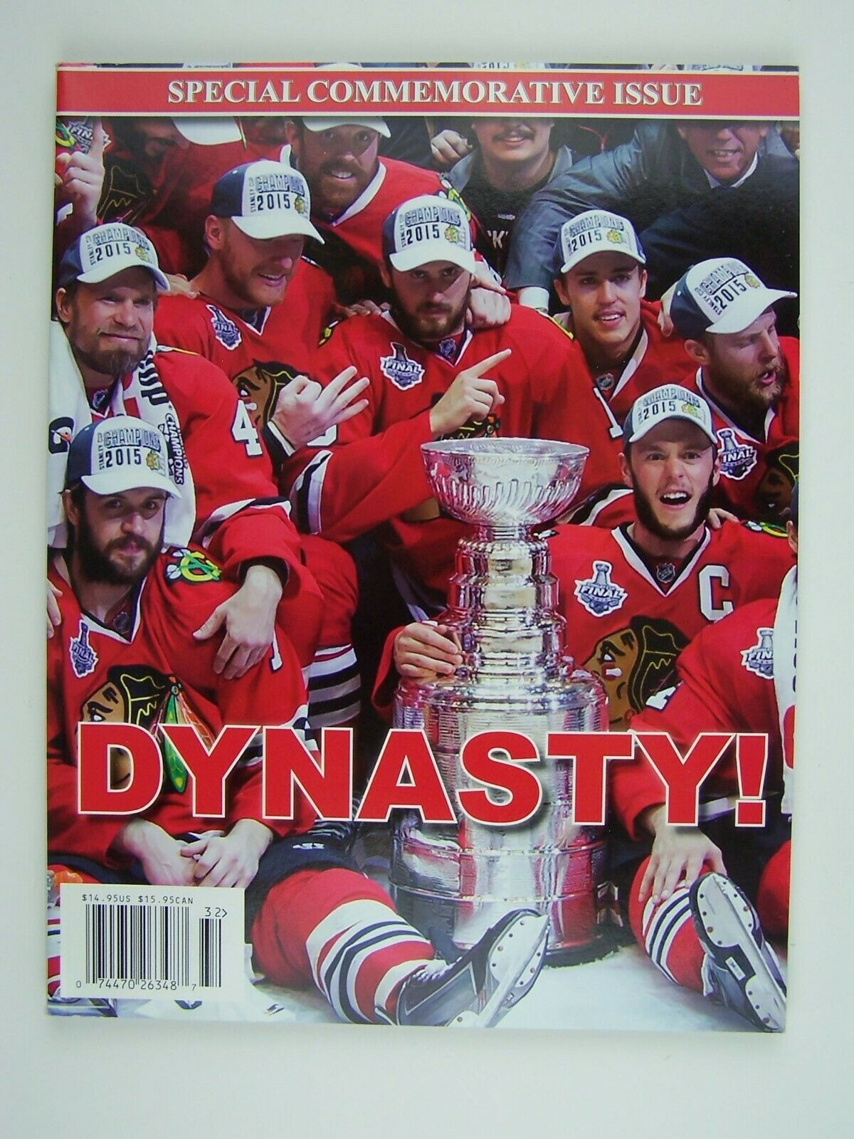 Chicago Blackhawks DYNASTY! 2015 Stanley Cup Champs Com