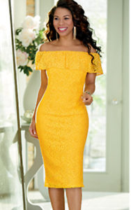 Details About Ashro Formal Yellow Lace Dress Church Cruise Dinner Party 14 18w 26w Plus