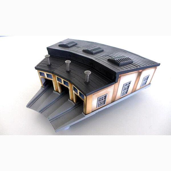 Rokuhan Z Scale S038 Three  Sttutti Engine House  consegna gratuita