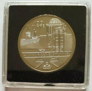 10 Euro Allemagne 2011 100 ans du tunnel d'Elbe à Hambourg UNC sous caps quadrum