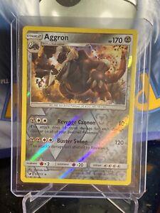 - Holo Rare Crimson Invasion 67//111 Aggron Reverse Foil