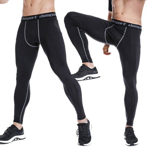 Mens Compression Base Layer Leggings Thermal Sport Gym Athletic Pants Quick Dry