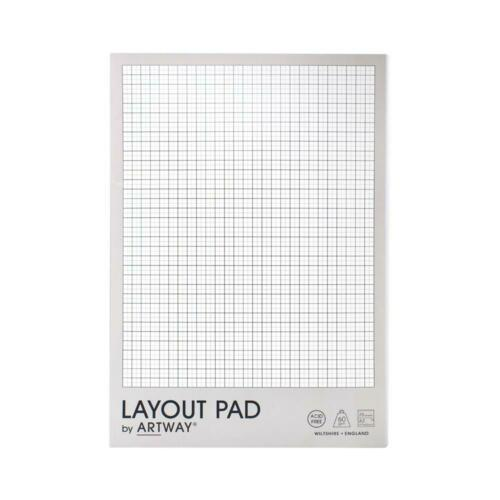 Artway Layout Pad 35 Sheets Acid-Free Bleed-Resistant Paper with Layout Grid