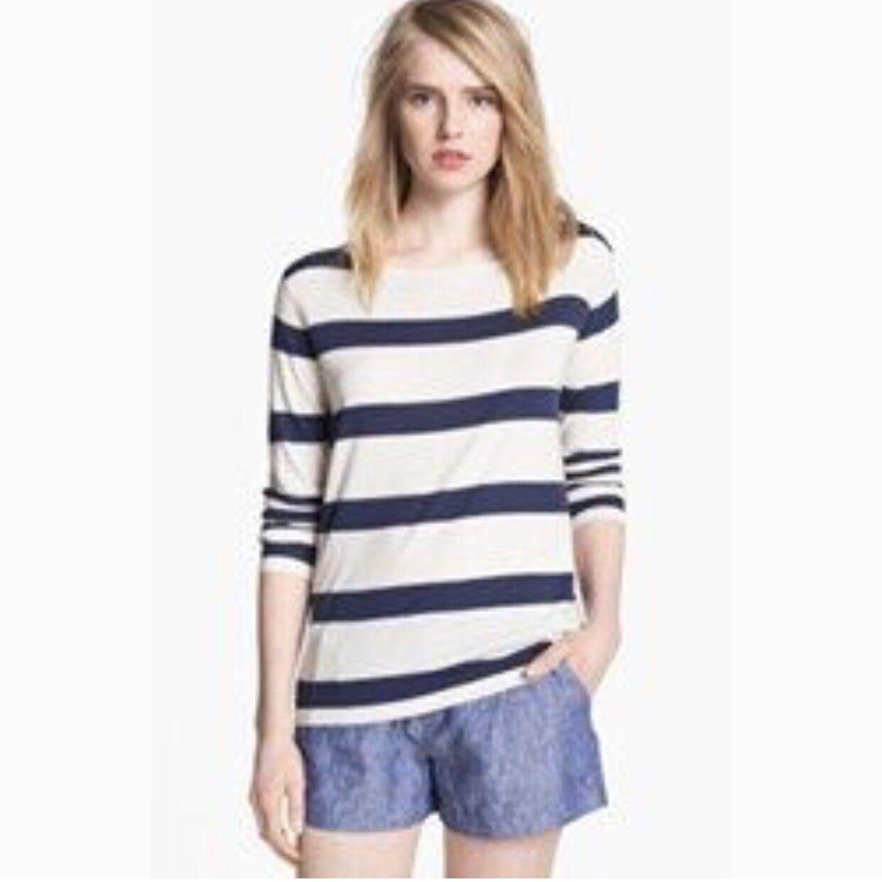 NWT Joie Kelia Striped Sweater top White nqvy  Xs P