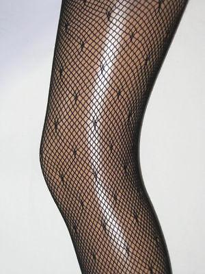 Black Spotty Dotty Tights Pantyhose Collant 1980/'s