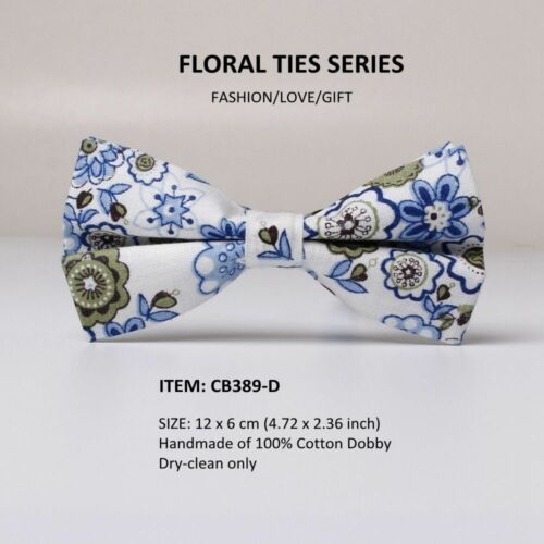 Men/'s Floral Print Bow Tie Cotton Butterfly Bows Tuxedo Necktie Party Adjustable
