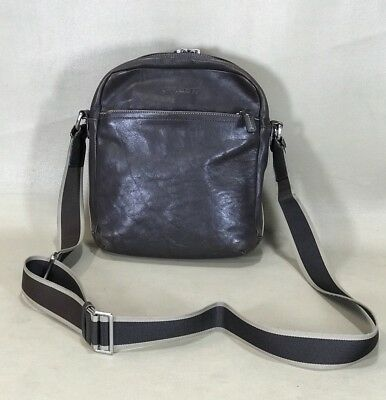 61bf9445c3ff Coach Heritage Web Leather Flight Crossbody Messenger Bag - F70813 Dark  Brown