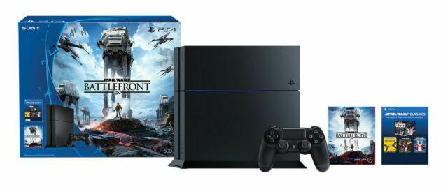 Sony Playstation 4 Star Wars Battlefront Bundle 500gb Jet Black Console For Sale Online Ebay