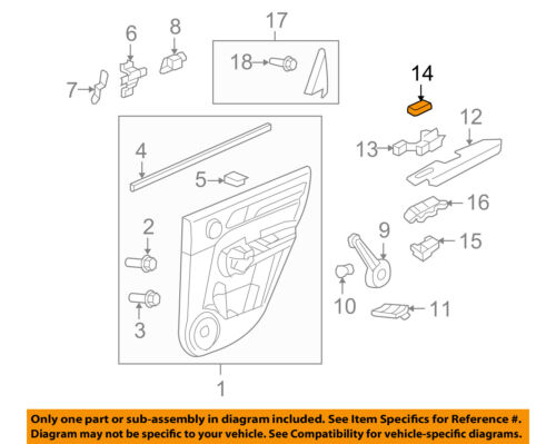 HONDA OEM 07-11 CR-V Front Door-Pull Pocket Hole Cover 83506SWA003ZC