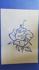 Schablonen 204 Rose Vintage Stanzschablonen Shabby Wandbilder Tattoos Mylarfolie