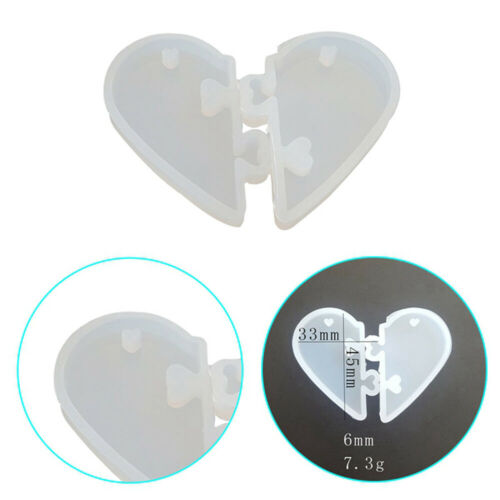 Love lock for lovers Pendant Silicone Mold DIY Epoxy Resin Mould Jewelry Tool n
