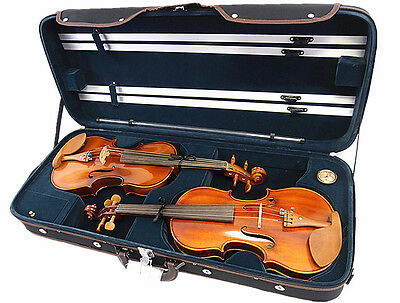 Equipment 4/4 Wooden Double Violin Case/ Wooden Case For Two Violins Refreshment Musical Instruments & Gear