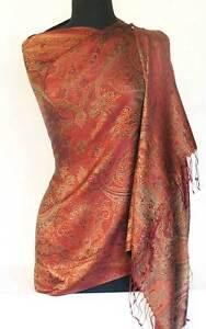 Red-Silk-Shawl-Reversible-Jamawar-Iridescent-Silk-Paisley-Shawl-Pashmina-Style