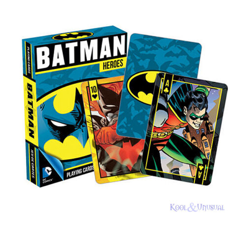 Awesome DC COMICS BATMAN HEROES Set of Playing Cards