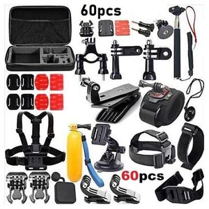 60 In 1 Action Camera Accessories Kit For GoPro Hero Video Cam Mount SJCAM Head