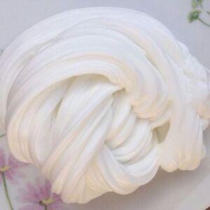 60ML-Weiss-Fluffy-Fluff-Floam-Slime-Schleim-fuer-Stressabbau-Baby-DIY-Spielzeug
