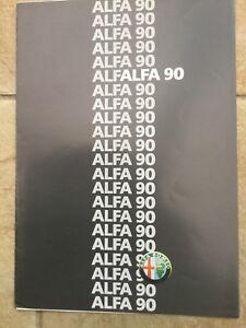 Alfa Romeo gamme 90 1986 UK Market sales brochure en excellent état-afficher le titre d`origine VF06VKsp-07135856-177637137