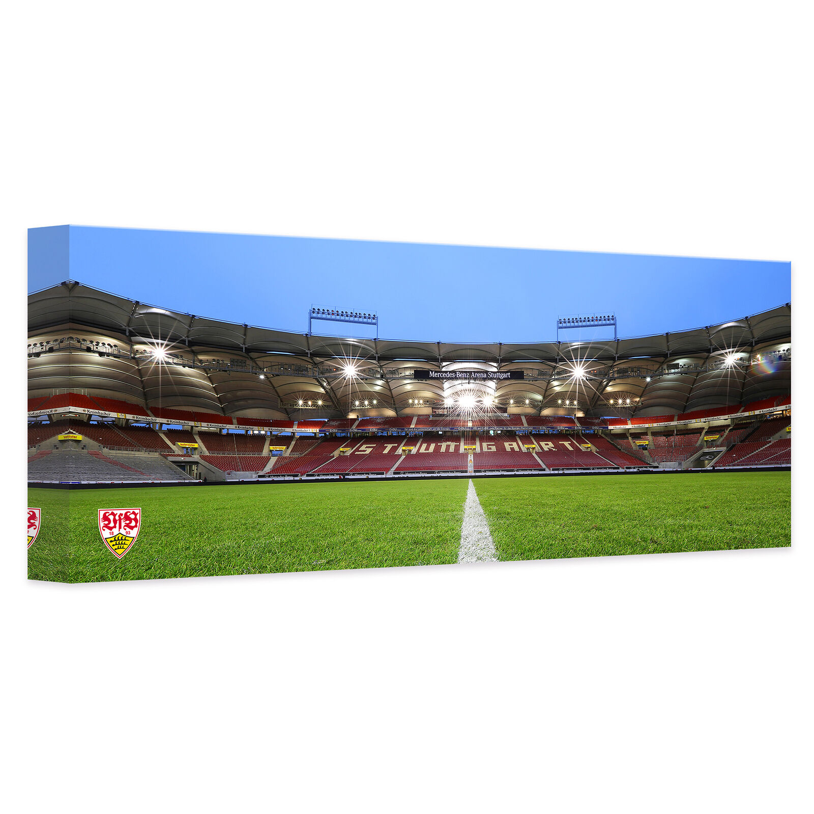 Leinwand Leinwandbild VfB Stuttgart Arena Tribüne - Panorama bunt