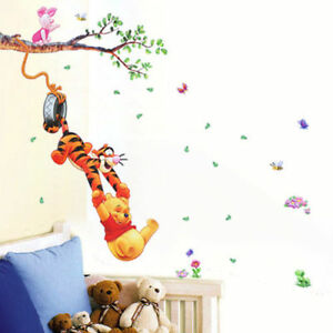 Details About Cute Winnie The Pooh Nursery Room Wall Decal Decor Stickers Kids Baby Bedroom