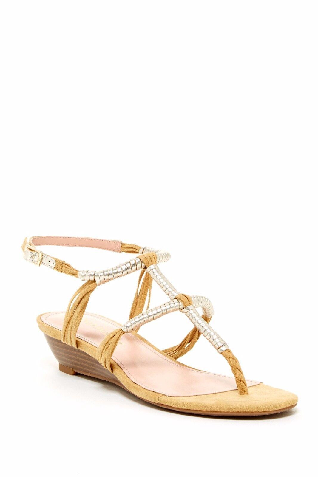 New Enzo Angiolini Khanna Wedge  tan  Sandals  women's sz 8