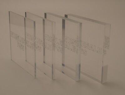 A4 Clear Foglio spesso 1,5/mm in acrilico perspex trasparente 297mm x 210mm