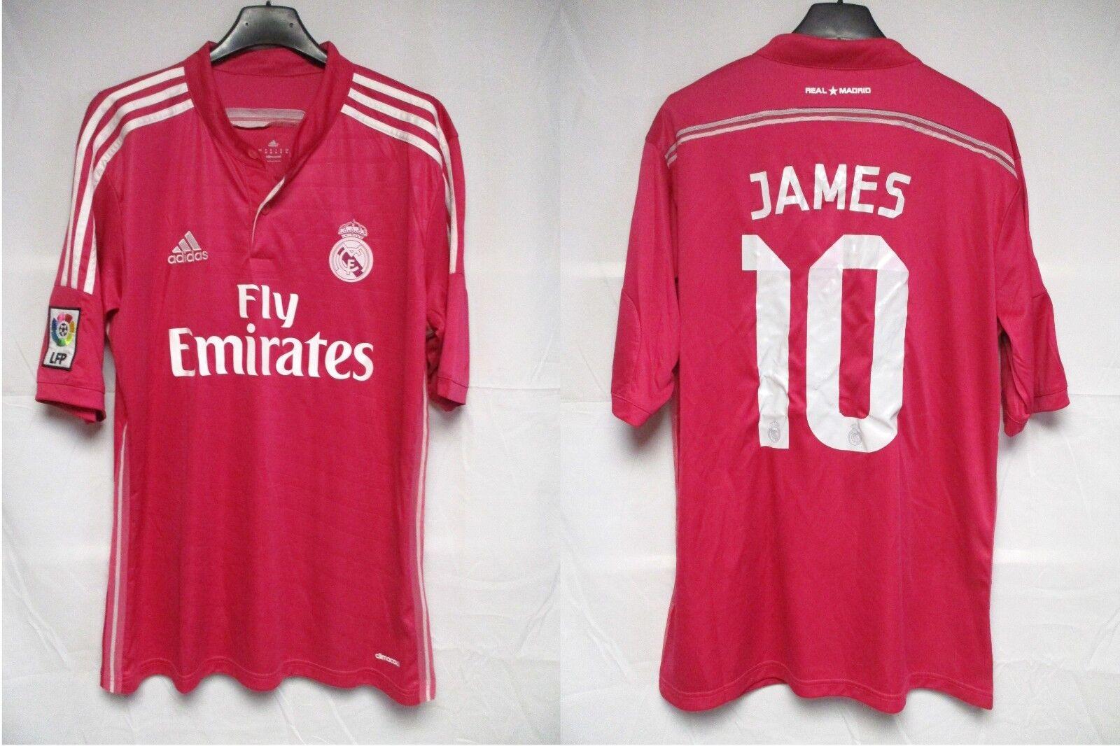 Maillot REAL MADRID 2015 away ADIDAS camiseta shirt jersey JAMES RODRIGUEZ 10 M