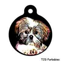 Shih Tzu Puppy-personalized Back Of Tag Pet Id Tag For Dog Collars Harnesses