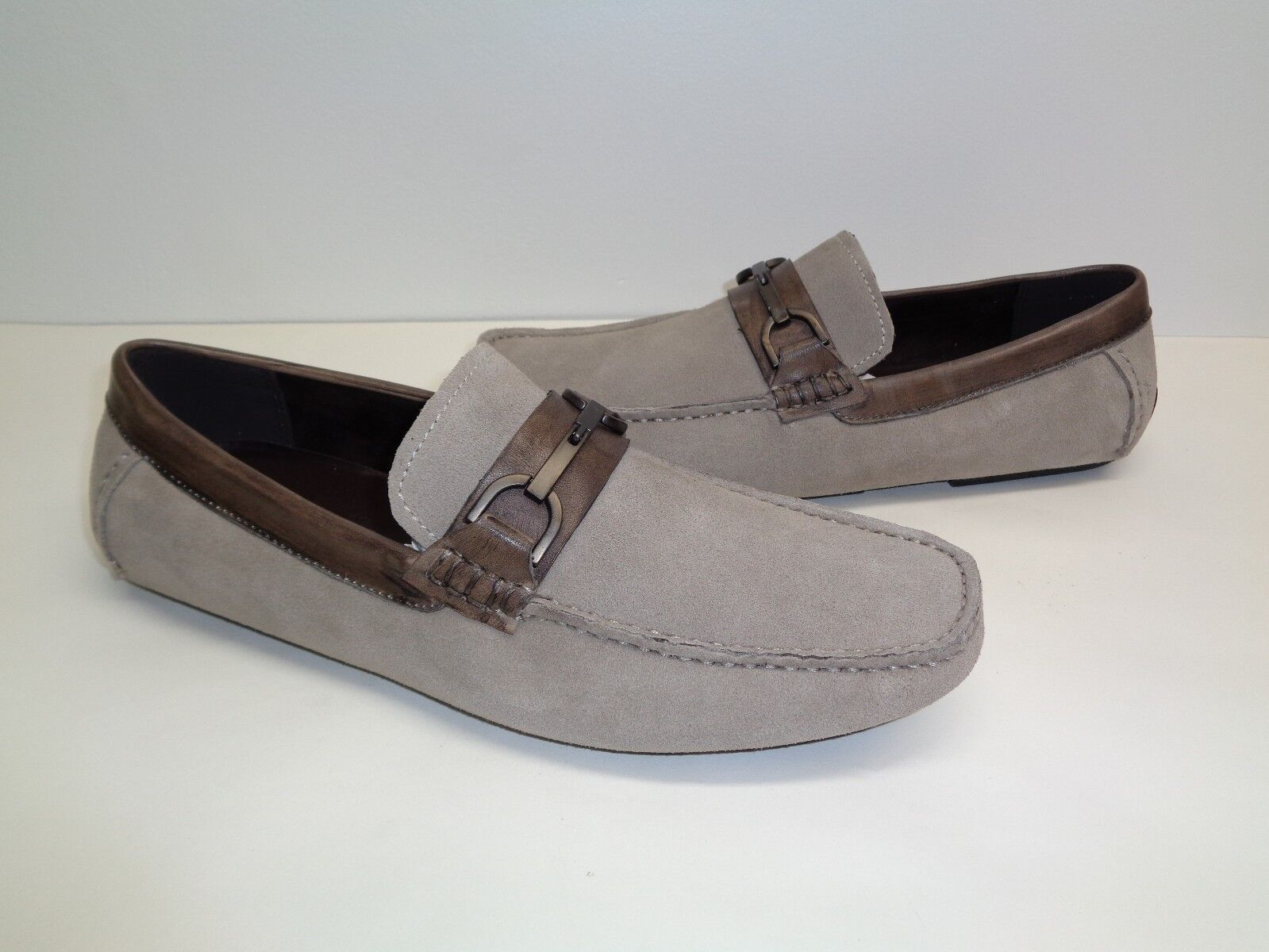 Kenneth M Cole Reaction Größe 11.5 M Kenneth DESIGN 20166 Gray Suede Loafers New  Uomo Schuhes f23af5