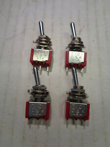 C/&K TOGGLE SWITCH 7101 Lot Of 4 Each NEW