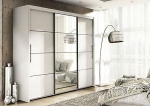 Image Is Loading Inova White Sliding Door Wardrobe Slider Bedroom Furniture