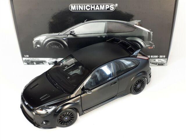 Ford Focus RS 500 2011 Matt Black 1:18 Model 100080000 MINICHAMPS