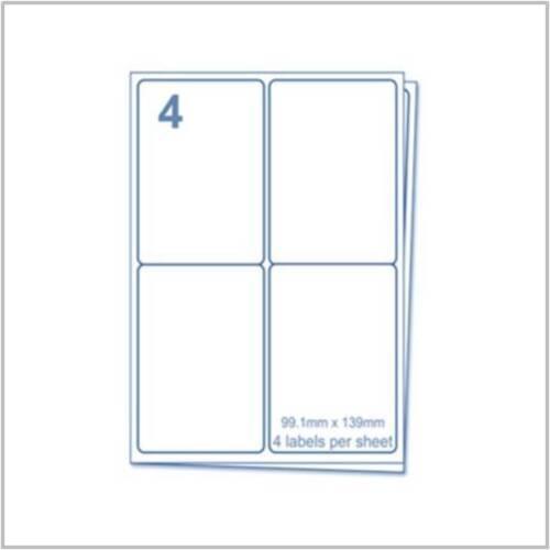 Le etichette-A4 Adesivo Appiccicoso a getto d'inchiostro e laser Stampante Etichette etichette integrate