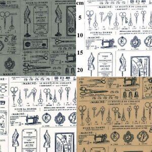 100-Cotton-Poplin-French-Dressmaker-Shop-Print-Craft-Fabric-Material-112cm-wide