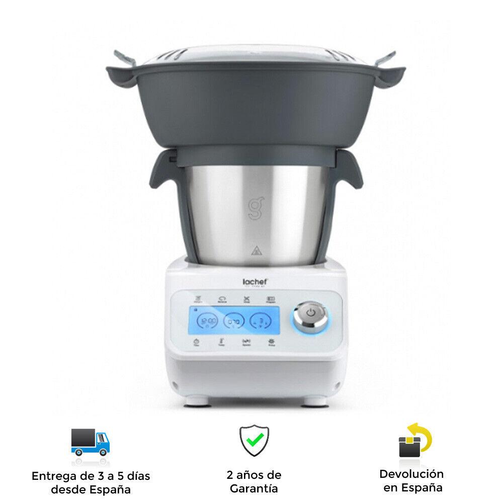 Robot De Cocina Profesional Multifunción Lachef - 1000W, 5000 RPM, 23 Funciones