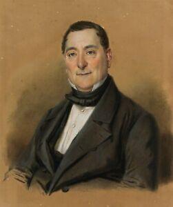 J-C-BONECKE-um-1840-Der-sanfte-Blick-1849-Pastell
