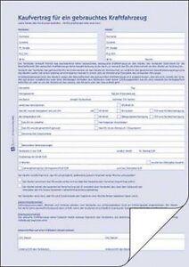 Kfz Kaufvertrag Zweckform 2880 A4 Für Gebrauchtes Kfz Ebay