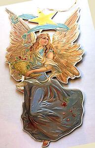 "LARGE11"" VICTORIAN ANGEL w/ CORNUCOPIA CHRISTMAS DECORATION Mint/Sealed Shackman"