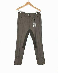 Max-Mara-Weekend-NWOT-Size-GB-12-Brown-Herringbone-Tailored-Jodhpurs-Pants
