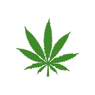 1 Hanf Blatt 10cm Grün Thc Gras Pflanze Marihuana Aufkleber Tattoo Deko Folie