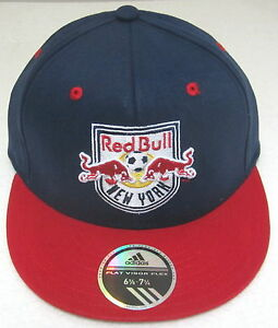 921112a3515 MLS New York Red Bulls Multi-Color Structured Flat Bill Fitted Hat ...