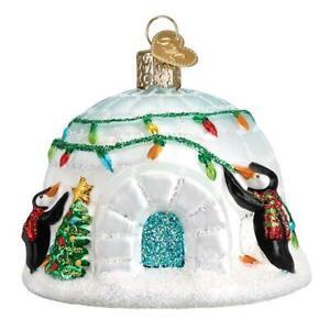 034-Igloo-034-20110-X-Old-World-Christmas-Glass-Ornament-w-OWC-Box