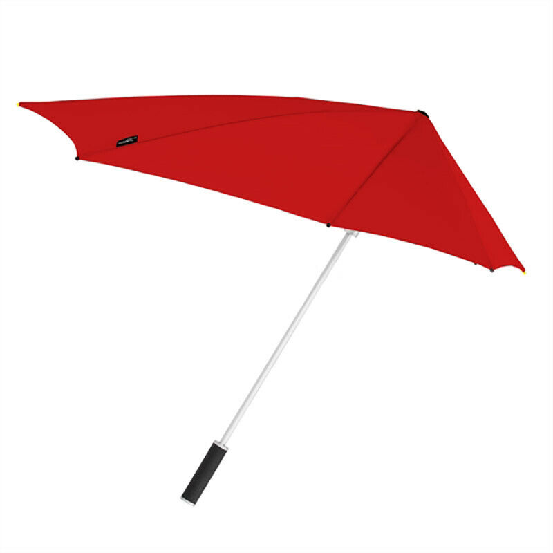 Red Storm Windproof Walking Umbrella Mens and Womens Classic Manual Brolly