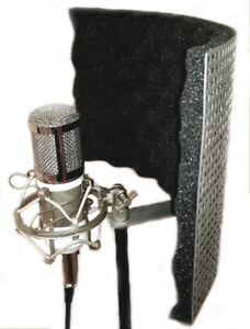 budget microphone shield isolation reflection filter screen portable vocal booth ebay. Black Bedroom Furniture Sets. Home Design Ideas